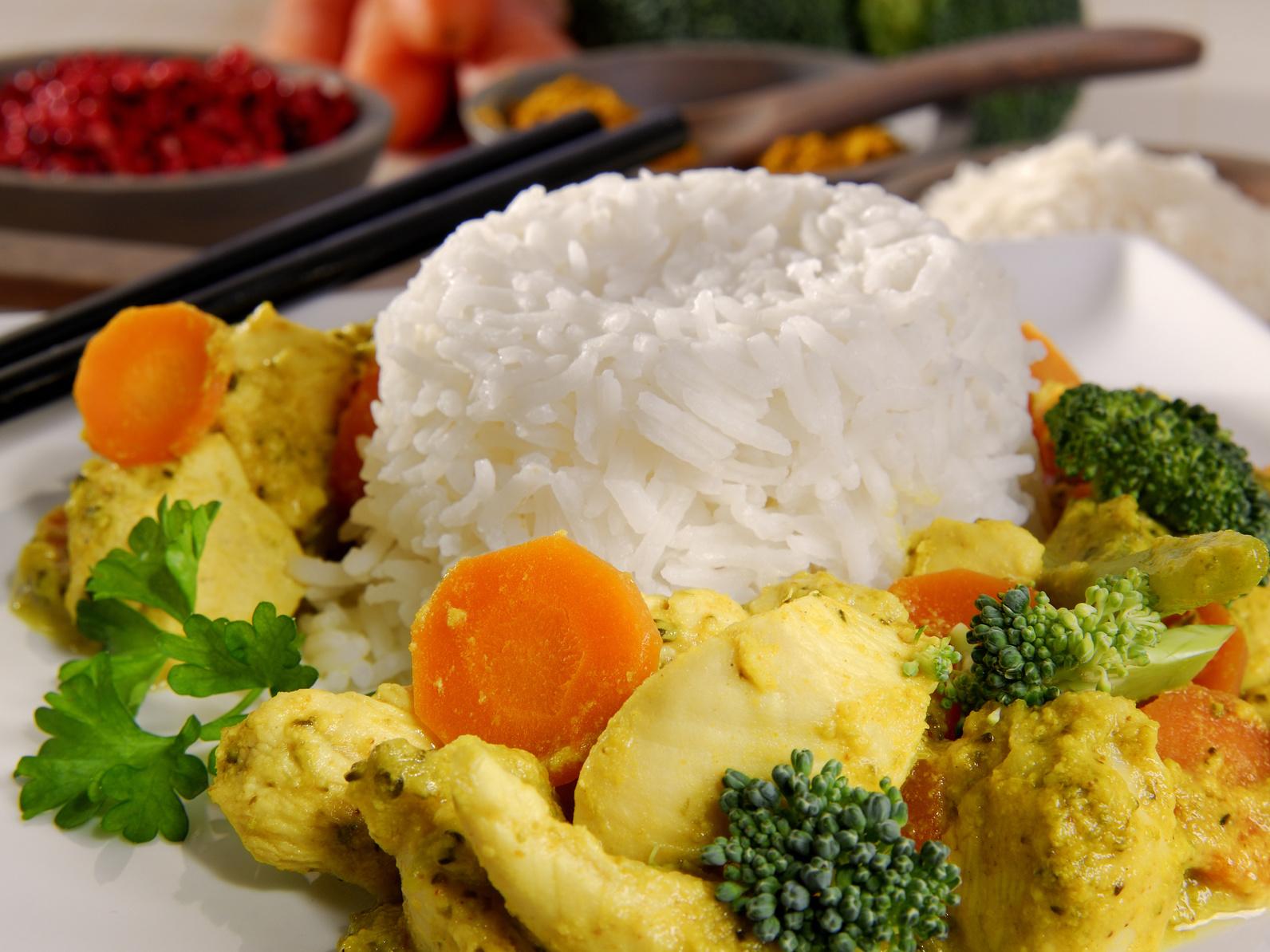 Hähnchencurry-Leckeres Essen für Gäste