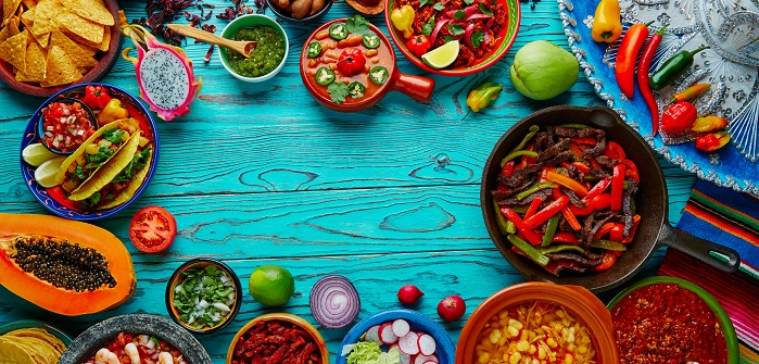 Farbenpraechtige, leckere Gerichte aus der mexikanischen Kueche